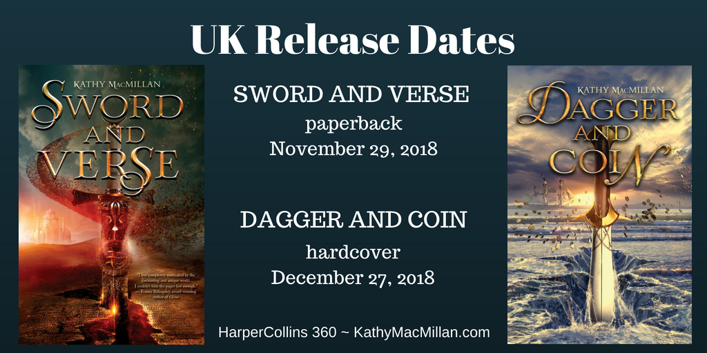 Happy Paperback Day, SWORD AND VERSE! | Kathy MacMillan